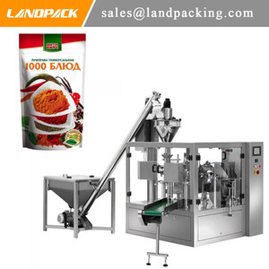 Paprika em pó automática Premade Doypack Pouch Machine Machine Packaging Pó Stand Up Pouch Pilling And Sealing Machine