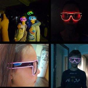 Blinkende Glas EL-Draht-LED-Gläser glühende Party Supplies Beleuchtung Neuheit-Geschenk Bright Light Festival-Partei-Glühen Sonnenbrille