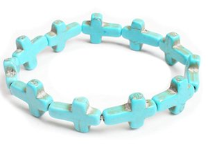 Charm Fashion Honesty Mix Color Turquoise Handmade cross BRACELET COLLEZIONI DI GIOIELLI