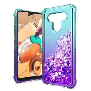 Gradual Glitter telefone capa para LG K51 Stylo 6 Aristo 5 Plus à prova de choque líquido Quicksand capa para Samsung Galaxy 01 A