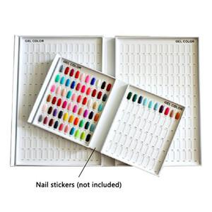 Modèle professionnel Nail Gel Polish Color Display Box Book Dédié 120 Couleurs Carte Graphique Peinture Manucure Nail Art Outils En Gros