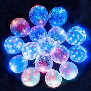 50pcs / giorno di Lot LED luminosi Lattice Palloncino a elio trasparente Wedding rotonda Birthday Party Decoration Balloon Decor San Valentino