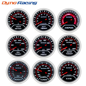 "Gauges Boost Gauges Dynoracing 2"" 52mm Car boost gauge bar psi Exhaust gas water temp oil temp oil press Air fuel"