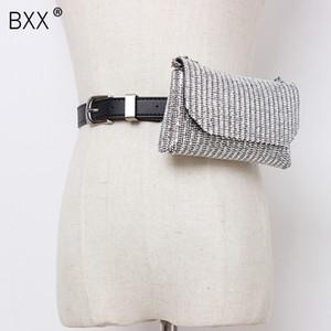 [BXX] solo hombro de las mujeres del bolso de Crossbody del Todo-fósforo de la aleta 2020 Personalidad imitación de diamante Cadena Pecho Cintura Bolsa HG635