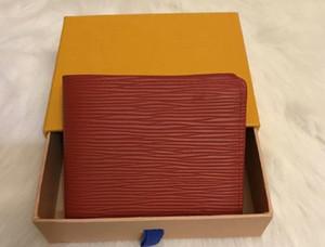 العلامة التجارية الجديدة محافظ مصمم محفظة حمل جودة عالية الفاخرة جلد الرجال محافظ قصيرة للنساء الرجال عملة محفظة مخلب أكياس مع مربع