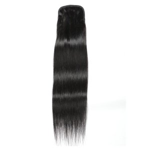 Silky Straight Human Hair Extensions Pony Tail Ponytail Human Hair Non-Remy for Woman
