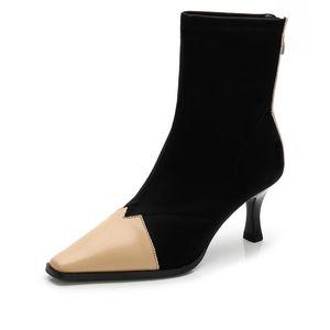 Sıcak Satış-sonbahar ve kış yeni yüksek topuklu Martin çizmeler Kadın Çorap Çizmeler