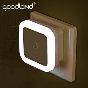 Lámpara de detección noche de la lámpara LED Noche goodland de control Sensor de luz LED de ahorro de energía de la UE nos enchufe luz nocturna para la habitación de los niños Niños
