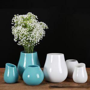 2020 New Classic Керамическая ваза Современные декоративные украшения Простые Гостиная Малый свежих цветов Inserter