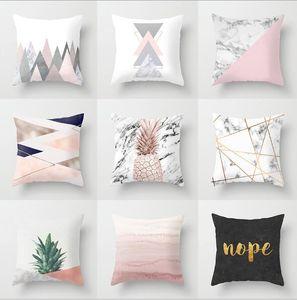 Pillow Case Pink geome Geometric Pineapple Glitter Polyester Sofa Decorative Cushion Cover for Home Decor 45x45cm Yellow peach velvet pillow