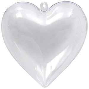 واضح من البلاستيك الديكور هدية مربع فيلابل قلوب صندوق DIY شنقا زخرفة لحضور حفل زفاف الذكرى حزب الديكور مع الشريط الوردي