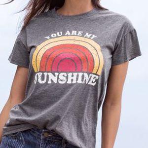 Mulheres T-Shirt de Verão de Manga Curta Tops Tee Você é Meu Sol Rainbow impressão O-pescoço T-Shirt Feminino Harajuku T Shirt Das Senhoras Tops