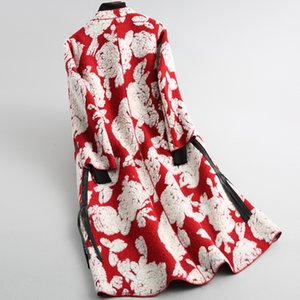 Real Sheep Fur-coreano Poda de Inverno jaqueta casaco Floral Roupas Femininas 2020 Manteau Femme O014X YY1135