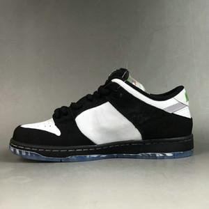 2019 Staple x Nike SB Dunk Low Baixo Panda Pigeon 3.0 Pro OG QS Sapatos de Skate Das Mulheres Dos Homens Preto Verde BV1310-013 Designer Sneakers36-45
