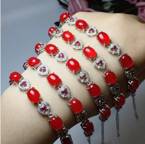 Natural colours diamond-encrusted bracelet free shipping, 925 silver X3011