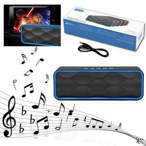 3W LOUD Radio FM USB Bluetooth stéréo sans fil basse MINI haut-parleur portable Lecteur de musique MP3 pour Iphone téléphone intelligent et Tablet PC