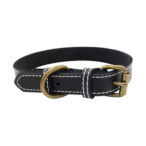 Trsnser Hundehalsband Brown-Haustier-Hunde Hals Supplies Cortex Leather Soft Schwarz Verstellbare Harness 19Mer18 P35 Hundehalsbänder