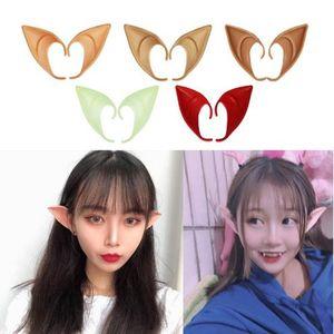 50pcs / lot Elf Ears Fee Cos Maske Cosplay Zubehör Latex Soft Prosthetic falsche Ohr Halloween-Party-Masken