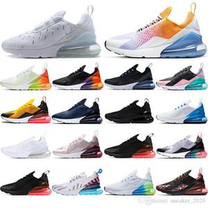 Nike air max 270 React Çorap ile yeni hava Yastığı Sneaker kahverengi Volt Turuncu BARELI GÜL yıldız Lacivert Üçlü Siyah nefes koşu Ayakkabıları mens eğitmenler 36-45