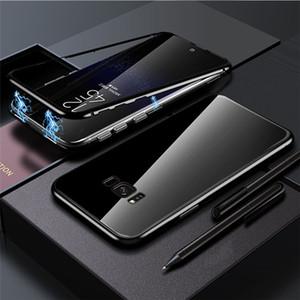 Samsung not 8/9 s8 / 9 artı note8 / 9 s10 S10E note10 Adsorpsiyon temperli cam Arka Panel Kapak Cep Telefonu Kılıfları için Manyetik telefon kılıfı