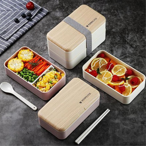 Leak-Proof Lunch Box Bento Box mit Besteck für Kinder, Schüler Erwachsene Schule Büro Mikrowelle Große Kapazität Separate Entwurf