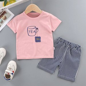 Summer Infant Cotton Short Sleeves Clothes Tops + Pants Baby Toddler Boy Clothing Sets Kids Children Boys Outfits Suits