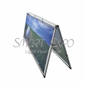 Alumínio Exterior Um Quadro Banner (80 * 200 cm) com Sliver Moldura De Alumínio Dupla Impressão De Vinil Portátil Carry Bag