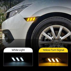 2adet İçin Honda Civic 2016 2017 2018 Araç Yan Marker Sinyal Işıklar Marker Lambası LED DRL Ampüller