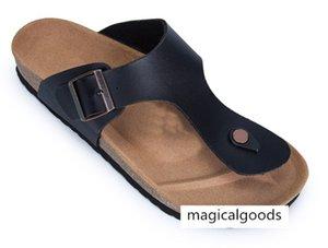 style footwear designer shoe Madrid Men s Woman Flat Sandals Casual Classics Buckle Beach Genuine Leather Slippers