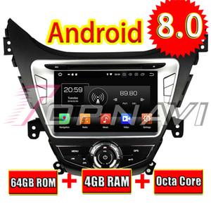 Topnavi Android 8.0 Car DVD GPS Navigation para Hyunai Elantra / Avante / I35 Stereo 2011 2012 2013 Áudio Radio Player 2 Din 4 + 64GB