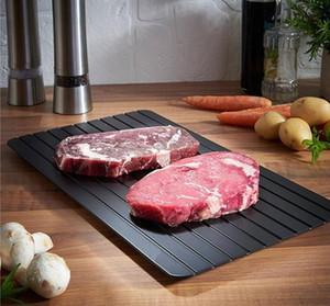 Personnalité Aluminium Dégel Plate Steak Surgelés Viande rapide plaque Dégel aluminium viande plaque Fast Dégel Outils de cuisson