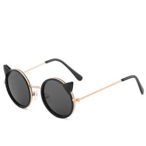 القط العين مصمم النظارات الشمسية للأطفال أزياء فتاة بوي لطيف الشمس زجاج الاطفال التدرج uv400 نظارات جميلة