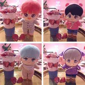 Fashion Korea Cartoon Plush Dolls Toys Plush Stuffed Doll Superstar Cute With Clothes Toy Gifts Collection For Kids Birthday Y200703