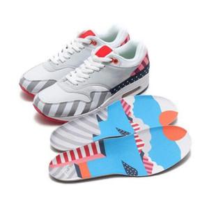 New Style Netherland Designer Piet Parra 1 Branco Multi Tênis de Corrida Rainbow Park Homens Sapatilhas Sapatilhas Das Mulheres Tamanho 36-45 Com Caixa