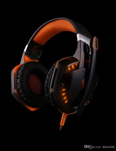 New EACH G2000 Deep Bass Headphone Stereo Surrounded Over-Ear Gaming Headset Headband Earphone with Light for PC LOL Game DHL Free Shipping