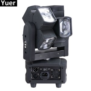 Newest8X10W RGBW 4IN1 Moving Head feixe de luz para Disco DJ Party Bar Wedding Led Lamp Stage efeito das luzes duplo feixe Moving Head