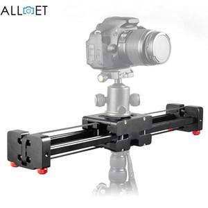 Freeshipping Siyah DSLR Kamera Video Slider Dolly 50 cm Parça Raylı Stabilizatör Canon Nikon Sony Stabilizers Için 100 CM Sürgülü Mesafe