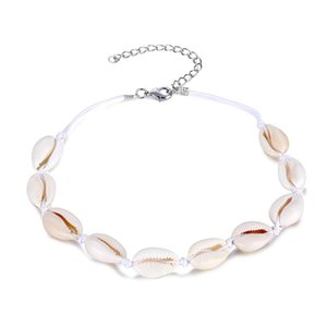 Bohemian Beach Tassel Necklace Natural Sea Shell Gargantilla Collar de cadena Collar Boho 2019 Mujeres Summer Beach Jewelry