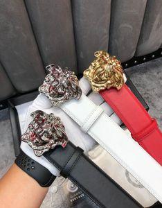 Epsom CORREA BRILLANTE gran cinturón de hebilla de plata hebilla de oro de calidad superior Togo Epsom REVERSIBLE grande hebilla del cinturón