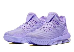 LeBrons 16 Low Atomic Violet Basquetebol vendas sapatos com Box 16 melhores tênis roxo baixos armazenar size40-46 atacado