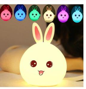 Led Rabbit Night Light USB for Children Baby Kids Gift Animal Cartoon Decorative Lamp Bedside Bedroom Living Room