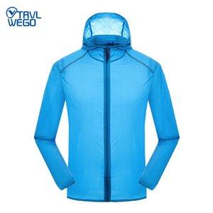 TRVLWEGO Sunscreen Clothes Men Women's Thin Sports Rainproof Quick dry Jacket Man Woman High Quality Zipper UV Prroof Jacket