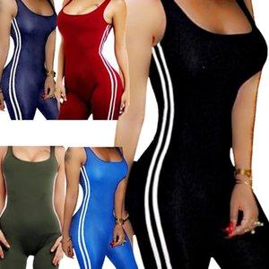 Bodysuits Women Romper Women Striped Tight Romper One Piece Leggings Pants Jumpsuit Athletic