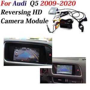 Frente cámara de visión trasera para Q5 2009 ~ 2019 2020 Adaptador de interfaz original de actualización de la pantalla de reproducción nocturna cámara de reserva del coche del decodificador