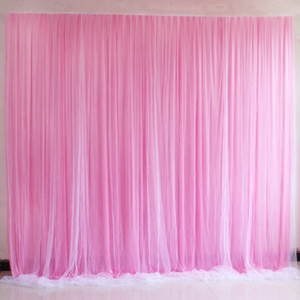 4M * 8M New Wedding Party fase celebrazione sfondo raso Curtain Drape fondale pilastro soffitto matrimonio decorazione Veil