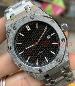 hombre de plata de la serie ROYAL OAK movimiento del reloj para hombre mecánico automático del reloj para hombre de acero inoxidable 15400 Relojes de pulsera