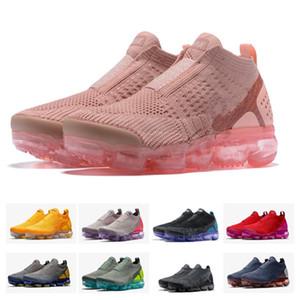 Chaussures Moc 2 Laceless 2.0 Freizeitschuhe Triple Herren Damen Sneakers Fly Weiß stricken Luftpolster Trainer Zapatos Größe 5.5-11