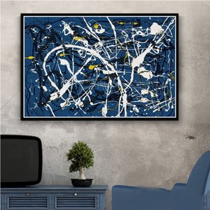 Pinturas Arte Jackson Pollock Pintura abstrata Psychedelic Poster E Prints Canvas Wall Pictures Home Decor