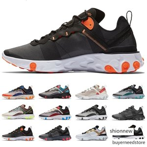 2019 React Element 87 Undercover x Upcoming 55 Sports Sneakers Desert Sand Black White Men Women Trainers Designer Running Shoes Size 36-45