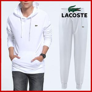 2018 Yeni Marka Tasarımcısı Eşofman Hoodie Higt Kalite Erkek Giyim Kazak Kazak Rahat Tenis Spor Eşofman Ter Suits